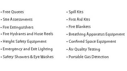 Fire Extinguishers & Safety Equipment Maintenance Services